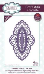 CED4353 - Creative Expressions Dies by Sue Wilson - Frames and Tags Collection - Phoebe Die